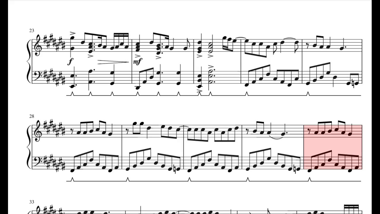 Never Gonna Give You Up Piano With Sheet Music
