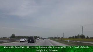 Interstate 65 into Lebanon, Indiana