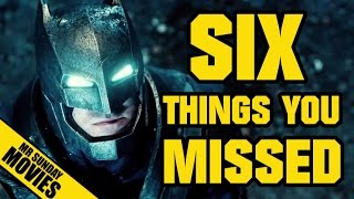 BATMAN V SUPERMAN: DAWN OF JUSTICE Trailer  - Easter Eggs, References & Things You Missed