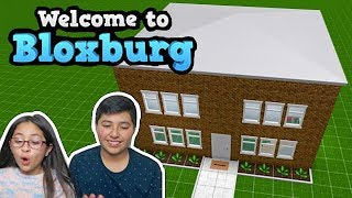 MY BROTHERS FIRST 2 STORY HOUSE! BLOXBURG BUILDS | ROBLOX GAME PLAY | FAMBAM GAMING