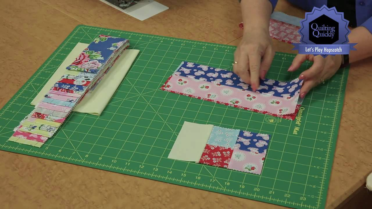Quilting Quickly Lets Play Hopscotch Baby Quilt Pattern Youtube