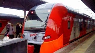 Поездка на электропоезде ЭС2Г-005 + ЭС2Г-020