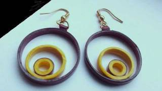 How-to make paper quilling jewellery earrigs beginers professionals.(photography)