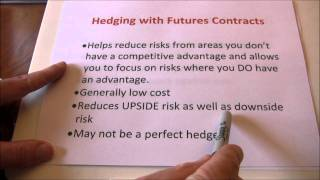 Futures Hedging vs Speculating