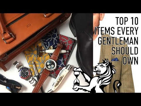 Top 10 Everyday Items Every Gentleman Should Consider Owning  Essentials For Urban Gentry Style