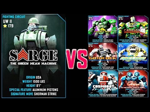 Real Steel WRB Sarge DEER VS WRB I ROBOTS Series of fights NEW ROBOT (Живая Сталь)
