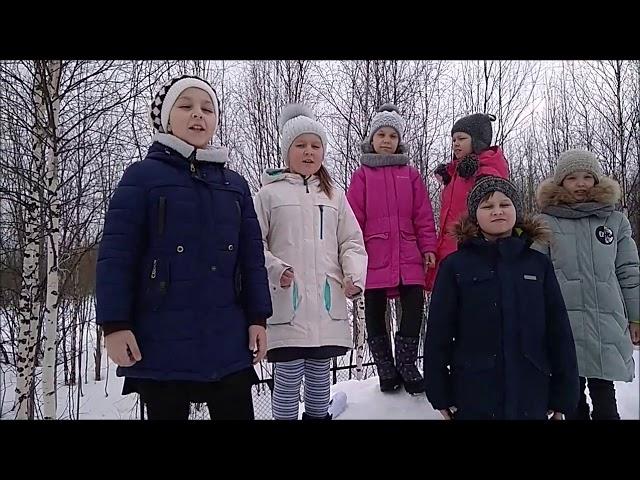 Изображение предпросмотра прочтения – «2-а класс 2019» читают произведение «Весна (Зима не даром злится…)» Ф.И.Тютчева