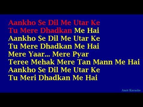 Aankho Se Dil Me Utar Kar - Kumar Sanu Hindi Full Karaoke with Lyrics