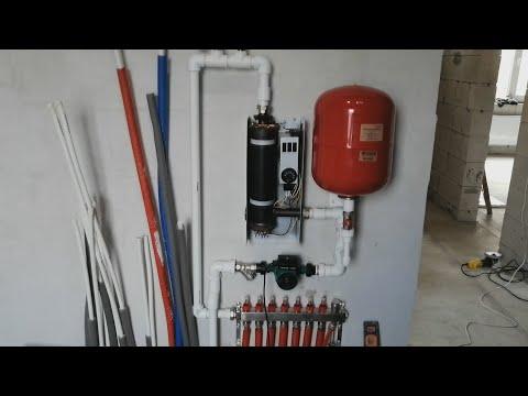 82.  Подключение электро котла к системе теплых полов.