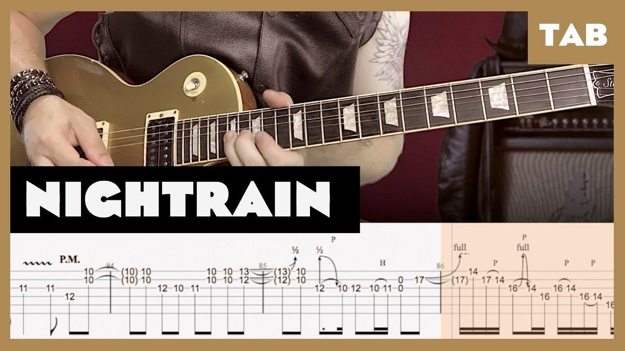 Nightrain Cover | Guitar Tab | Lesson | Tutorial