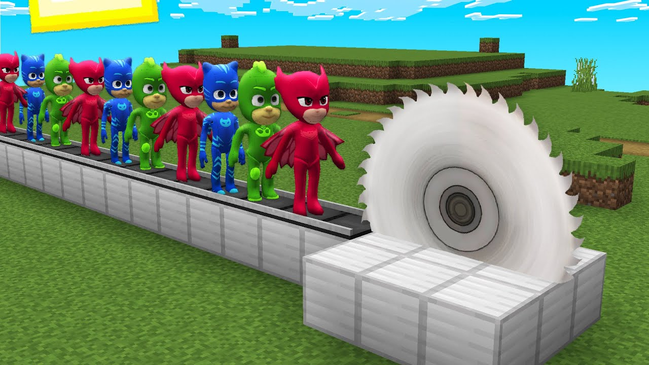 TRAPS for PJ MASKS in MINECRAFT Coffin Meme Paw Patrol Thomas THE TANK ENGINE.EXE