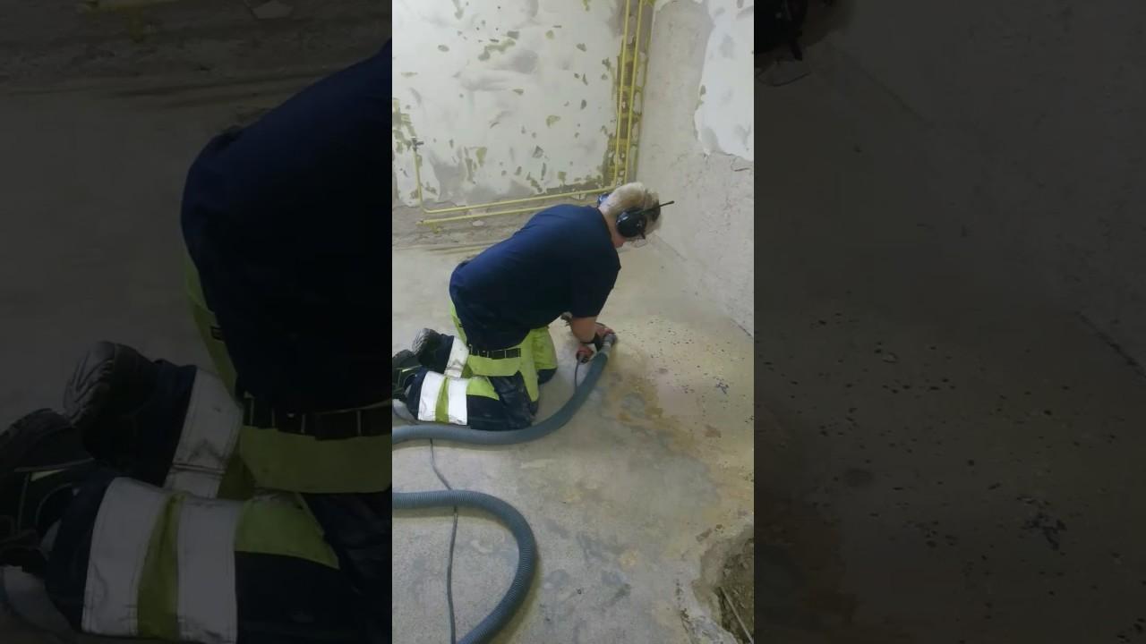 ta bort mattlim från betonggolv