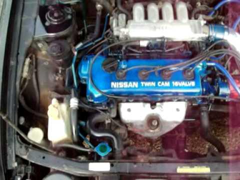 91 Nissan Sentra GA16DE Short Ram Intake - YouTube
