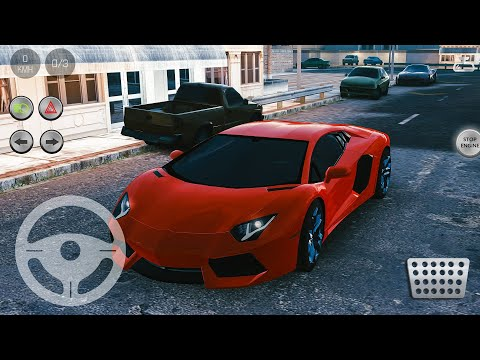 Real Parking|Real Car Parking 2 Driving School 2018 #17 Lamborghini Aventador - Android Gameplay