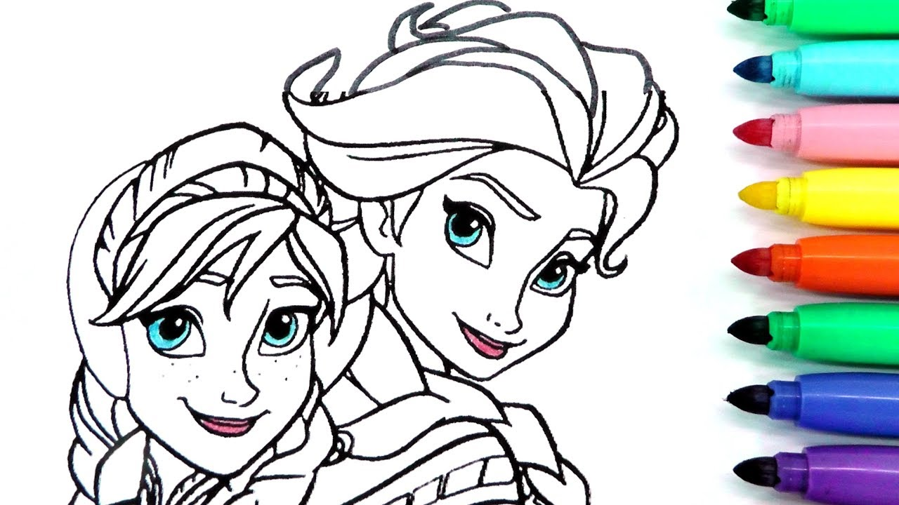 Rotulador Mágico De Frozen Con Colores Del Arcoiris Y Dibujos Sorpresa Elsa Ana Olaf Magic Ink