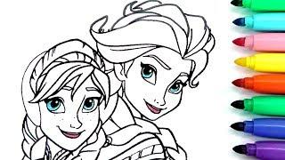 ROTULADOR MÁGICO DE FROZEN CON COLORES DEL ARCOIRIS Y DIBUJOS SORPRESA. Elsa , Ana, Olaf. Magic ink.