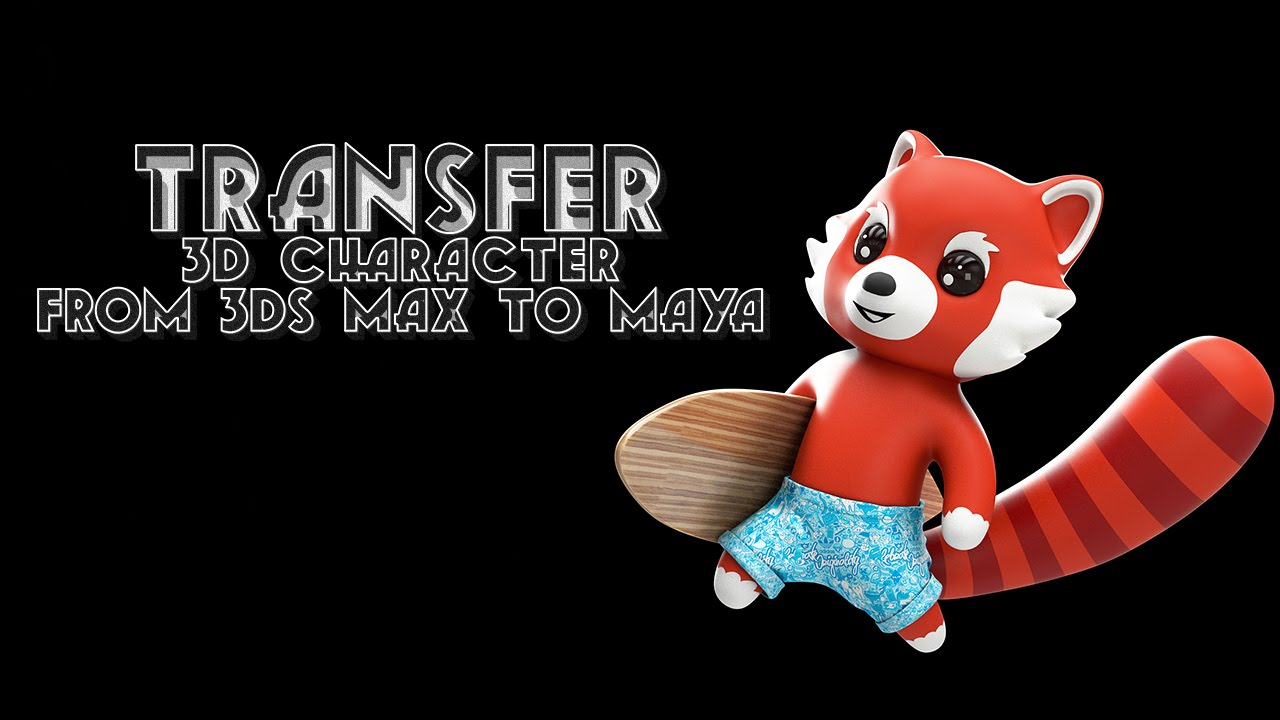 3ds max to Maya Export character model with light, material and rendering  setting