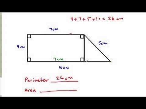Perimeter and area of a complex figure 1 youtube ccuart Gallery