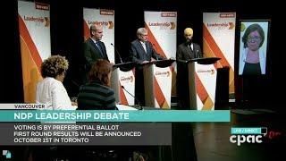 Vancouver NDP Leadership Debate Summary