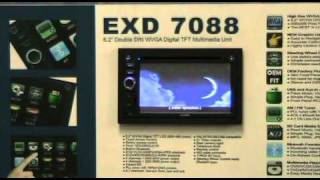 """EXONIC MOBILE EXD 7088 Double DIN 6.2"""" WVGA Digital TFT Multimedia Disc Player"""
