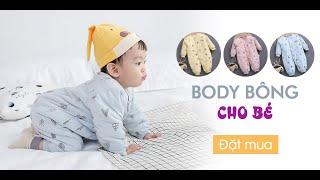 Bộ Body Bông Mềm Mại Cho Bé | Quần Áo Mùa Đông Trẻ Sơ Sinh