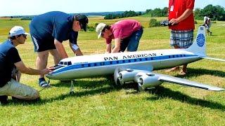 Video DC-6B PAN AMERICAN GIGANTIC RC AIRLINER MODEL DEMO FLIGHT / RC Airshow Airliner Meeting 2015 download MP3, 3GP, MP4, WEBM, AVI, FLV Juni 2018