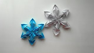 Video Des flocons de neige en papier. Origami flocon de neige pour le Nouvel an 2018 download MP3, 3GP, MP4, WEBM, AVI, FLV Desember 2017