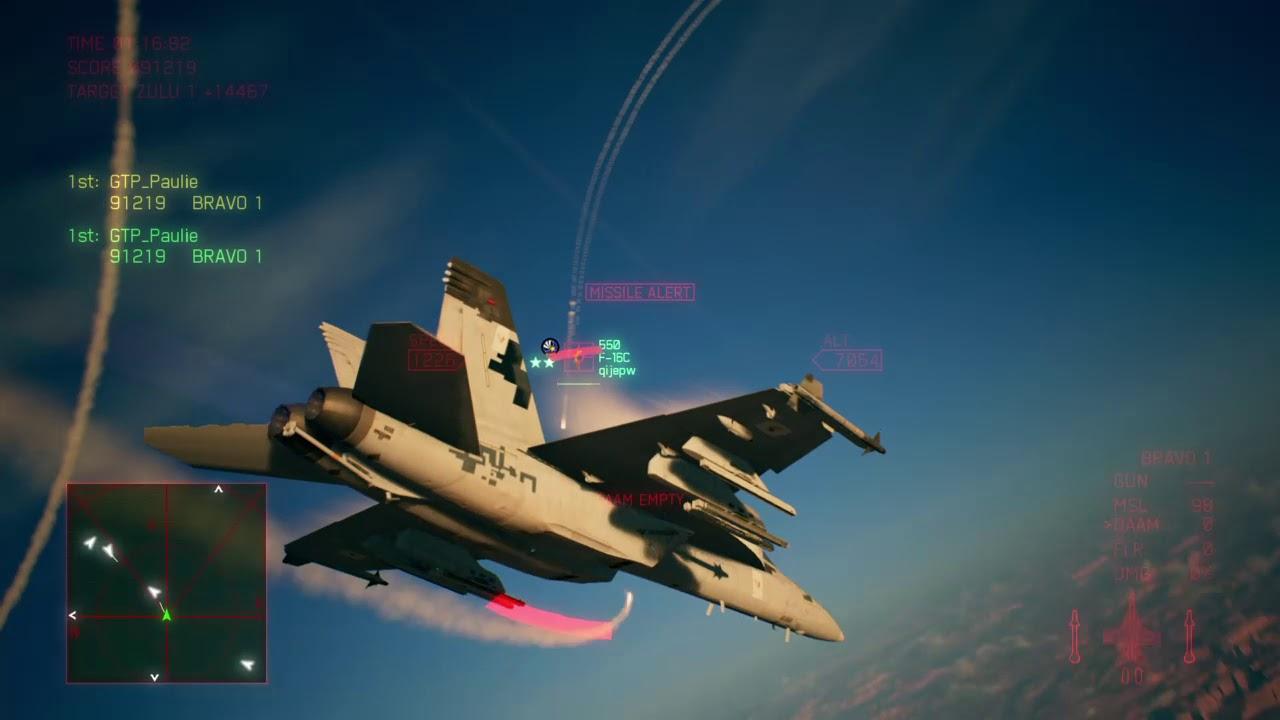 Ace Combat 7 F A 18f Qaam Build Youtube