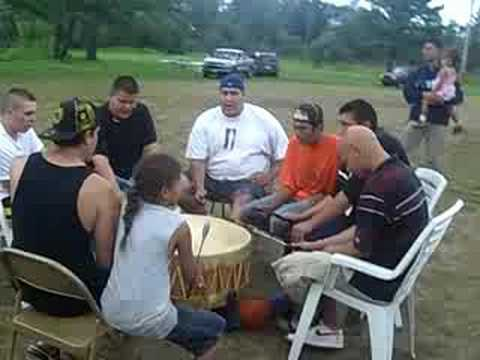 Traditional Ojibwe Drumming