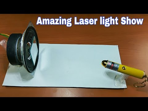 How to make a Laser Light Show Projector  Amazing laser light dj show