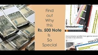 How to Check Rs.500 note - How to verify india 500 security features