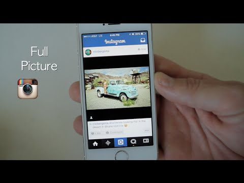 Instagram Tip: How to post a full picture