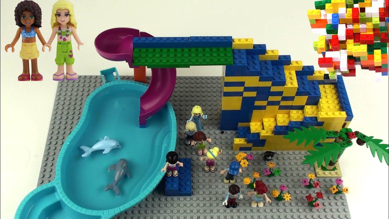 Lego Friends 2 Slide Dolphin Swimming Pool Mia