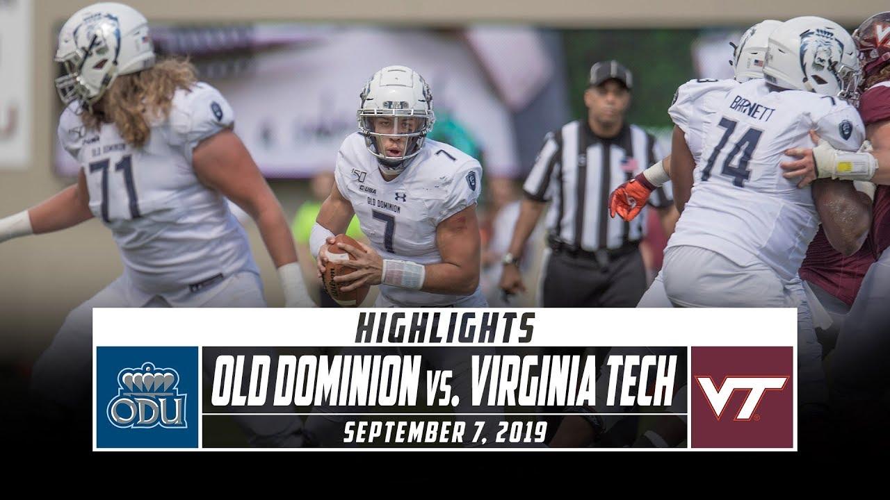 Old Dominion vs  Virginia Tech Football Highlights (2019) | Stadium