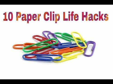 10 Paper Clip Life Hacks