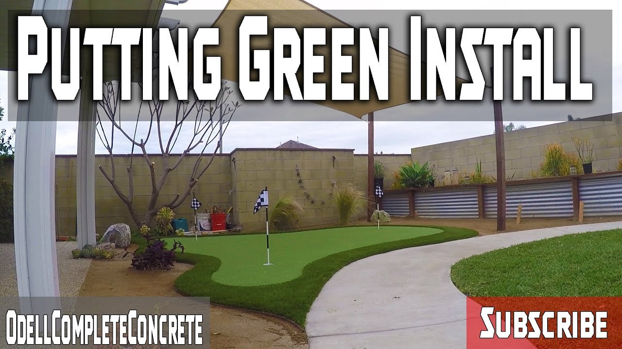 How To Make A Putting Green In My Backyard