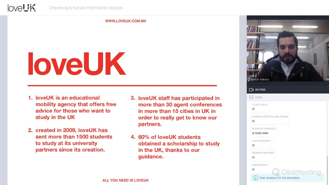 loveUK Presents: University of Sussex & Chevening Information Session