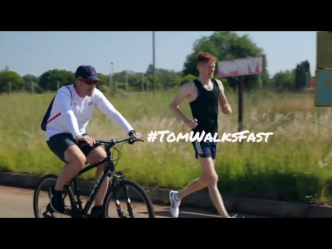 Olympic 20k race walk training session in South Africa