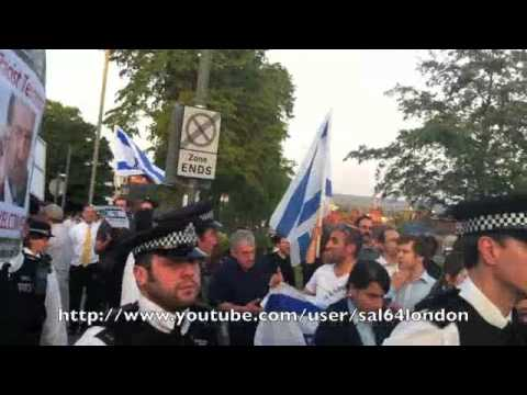 Protest against Avigdor Lieberman LONDON