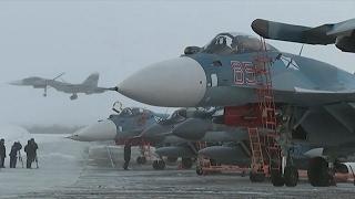 Возвращение палубной авиации СФ с борта ТАВКР «Адмирал Кузнецов»(Летчики палубной авиации Северного флота совершили перелет с тяжелого авианесущего крейсера «Адмирал..., 2017-02-03T15:03:11.000Z)