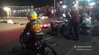 Mental diadu saat malam hari i (vsc dragbike malam pantai  Yogyakarta) | Windan Kecil vs Ilham Unyil