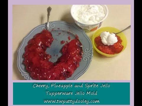 Cherry Sprite Jello Using The Tupperware Jello Mold Youtube