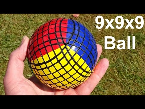 *World's First* Tony Fisher's 9x9x9 Ball puzzle (demo & chequerboard pattern)