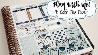 """Plan With Me! ft  Color Pop Paper """"Midnight Blooms"""""""