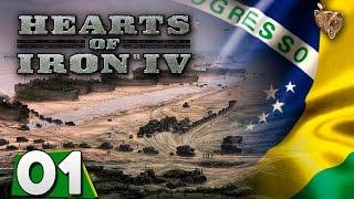 "Hearts of Iron IV Brasil #01 ""A cobra vai fumar!"" - Gameplay Português Vamos Jogar PT-BR"