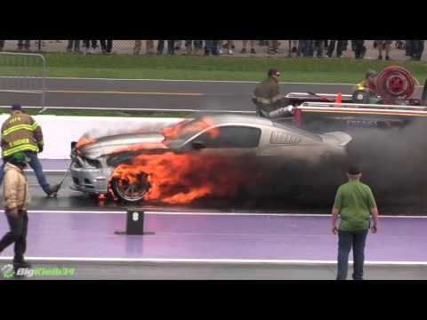 Nitrous Mustang Goes Up in Flames at TX2K16!
