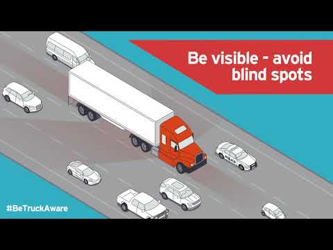 Be visible, Be safe, Be Truck Aware. Stay safe driving in BC. Vision zero Campaign