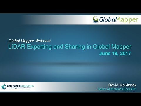 LiDAR Exporting and Sharing in Global Mapper