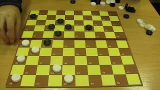 Красота международных шашек 100. Правила игры и комбинации. Урок для начинающих. Draughts 100.
