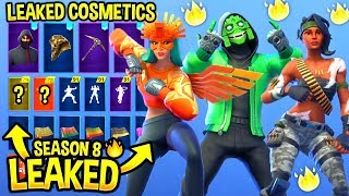 *NEW* All Leaked Fortnite Skins & Emotes..! *SEASON 8* (IKONIK, Scenario, Mezmer, Sun Bird ...)